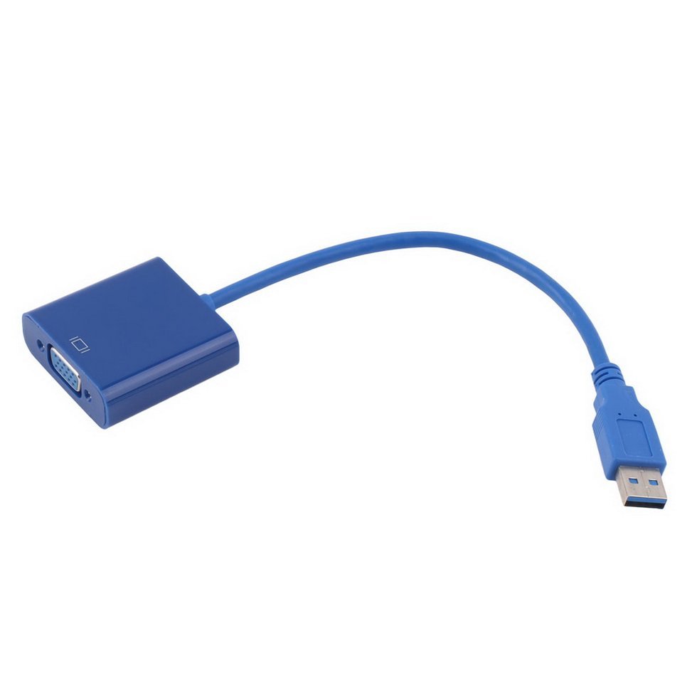10PCS New USB 3.0 to VGA Graphic Converter Card Display Cable Adapter 1080P rsexplorer usb 3 0 to vga high quality 1920x1080p multi display video graphic card external cable adapter for computer vga cable