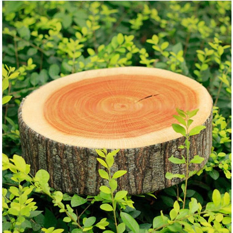 1 Stück Neue Stumpf Geformt Dekorative Kissen Niedlich Runde Woods Weichen Plüsch Stuhl Sitzkissen Kissen Start Auto Decor LA673462