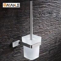 Pared Escobillero WC Cepillo con Mango Largo de Acero Inoxidable para el Hogar Accesorios de Baño