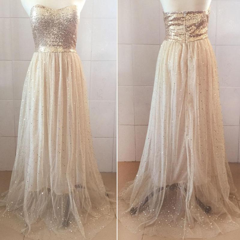 2018 Women Long Dress Sexy Prom Gown Maxi Party Evening Elegant Formal Wedding Floor Length Dress