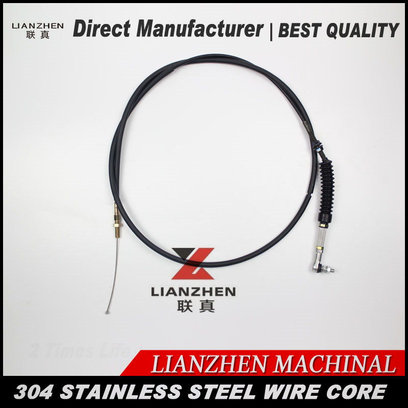 Excavator parts throttle control cable motor direct manufacturer stainless material excellent flexibility,more stable. excavator throttle motor control single cable for hyundai 21en 32300 21en 32260 excavator parts accelerator cable