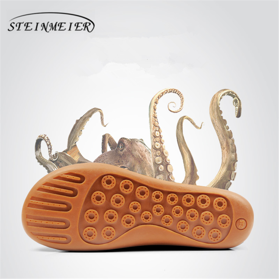 Femmes chaussures plates cuir daim véritable pieds nus chaussures femme décontractées Appartements baleriny sneakers chaussures femme chaussures 2019 printemps - 6