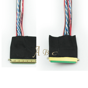 IPEX 40 Pins Pitch 0.5mm LVDS Cable for B101XAN01.2 10.1 - 15.6 inchs 1 ch 8-bit S8 LED LCD Panel I-PEX 20455-040E-12R Screen