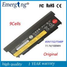 9 cellules 11.1 v 100wh nouvelle batterie d'ordinateur portable d'origine pour lenovo thinkpad l440 l540 t440p t540p w540 45n1148 45n1149 45n1152