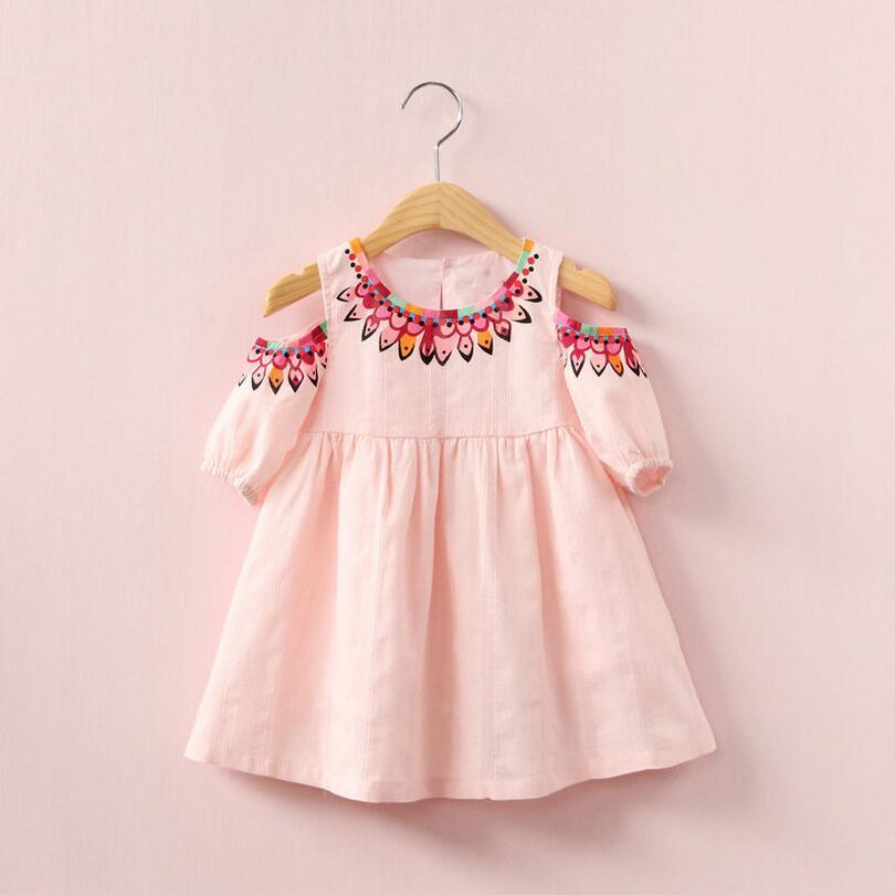Marchio di qualità abito 2018 estate carino stile principessa abito - Vestiti per bambini
