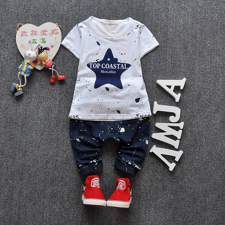 Boys Clothing Set Summer Kids Clothes Short Sleeve Leisure Graffiti T-Shirt+Short Pants Child Costume Boys/Girls Clothing Set