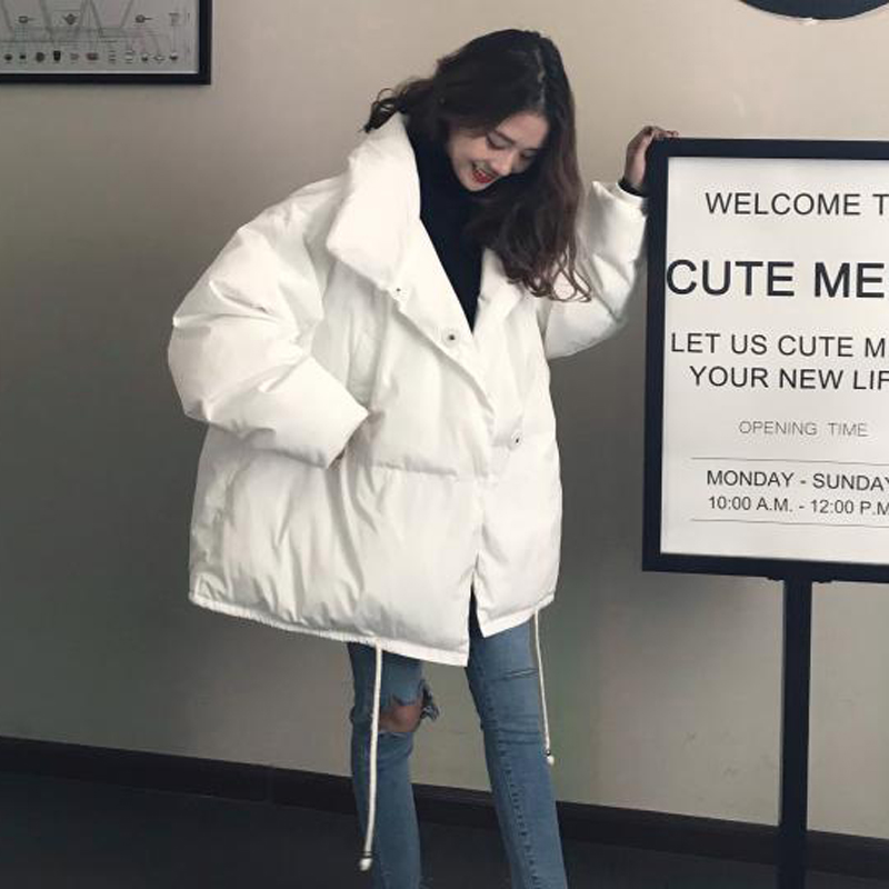 2018 women jacket and parks cotton long section padded jacket Korean version of loose big yards women's winter the fall of 2015 to launch new products design high quality loose big yards the cowboy cotton women s nine minutes of pants