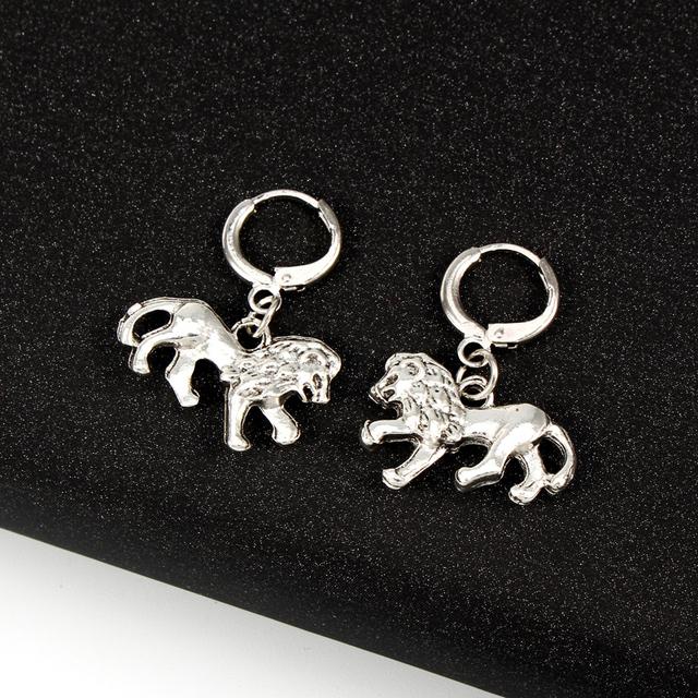 Lion Shaped Hoop Earrings for Women