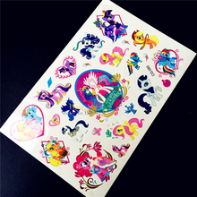 Cute My Little Pony Temporary Tattoo Children Body Art Fake Tatoo Arm Paste , Flash Waterproof Tattoo Sticker Free Shipping