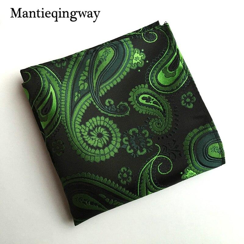 Vintage Men's Paisley Handkerchief Pocket Floral Pocket Square Business Chest Towel Hanky 25cm*25cm Gentlemen Suit Hankies