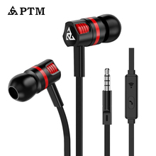 PTM S1 Stereo Earphone Super Bass Headphones with microphone Gaming Headset for Mobile Phone Iphone Xiaomi Samsung цена