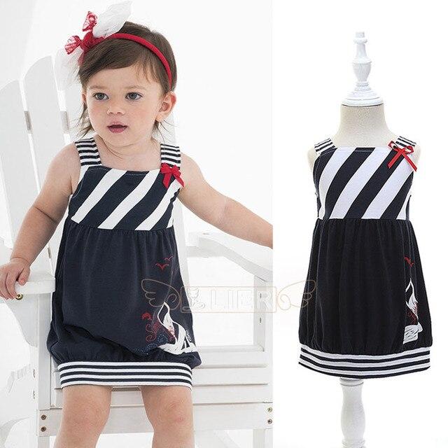 3593f853a Kids Girls Slim Vest Dress Baby Girl Casual Sleeveless Striped ...