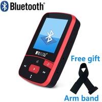 RUIZU X50 Sport Bluetooth MP3 Player 8gb Clip Mini with Screen Support FM,Recording,E Book,Clock,Pedometer