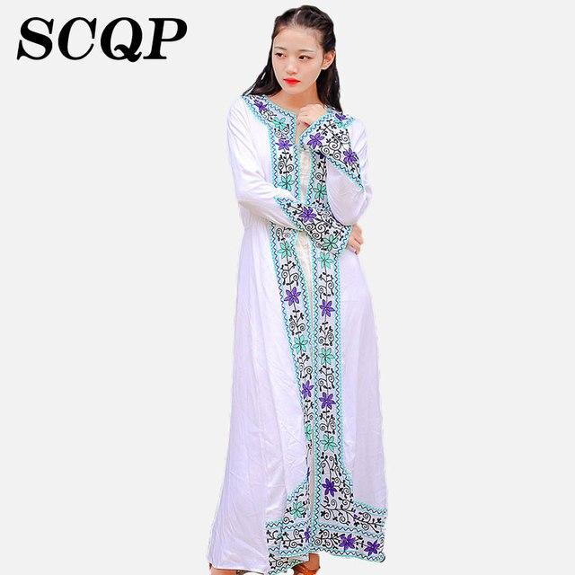 Ricamo delle donne cardigan kimono fiori floreale boho persone stile cotone  allentato etnico del capo dello 1cae4062d82