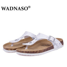 Fashion Summer Cork Slippers Sandals 2019 New Women Casual Beach Double Buckle Printed Slip on Slides Shoe Flat white black pink drkanol new design flat beach slippers summer women slippers shoes double buckle cork casual slides women sandals big size 35 44
