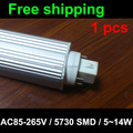free shipping for 1 pcs 4 pin led gx24q pl bulb Lamp 5W 7W 9W 10W 11W 12W SMD5730 5050 2835 downlight light AC85-265V 110V 220V