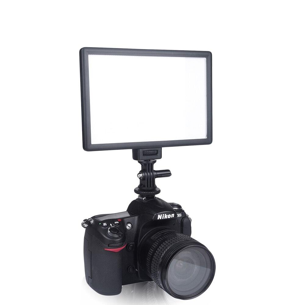 Viltrox L116T LCD Affichage Bi-Couleur et Dimmable Mince DSLR Vidéo LED Lumière + Batterie + Chargeur pour Canon nikon Caméra DV Caméscope - 2