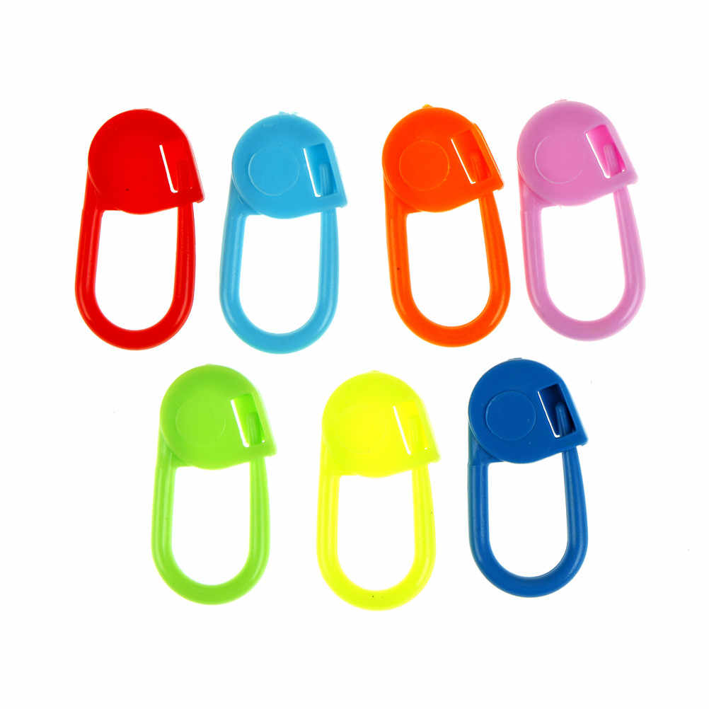 100 Pcs/lot Campur Warna Plastik Merajut Alat Pengunci Stitch Marker Merenda Merajut Alat Jarum Klip Kait