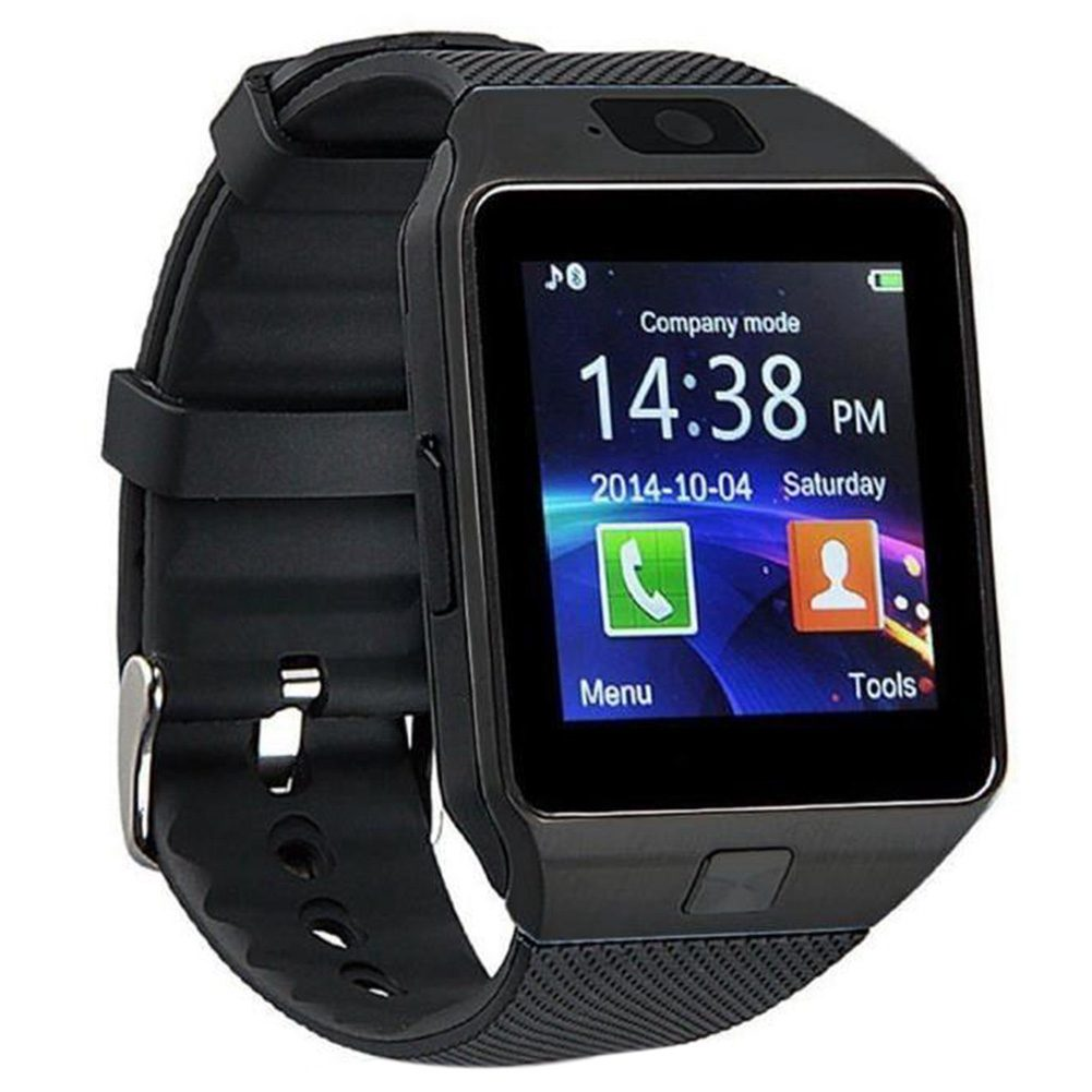 Top Deals Bluetooth Watch Smart Watch Phone DZ09 TF SIM Card Holder HD Sync Caller SMS for Android Phone-Black