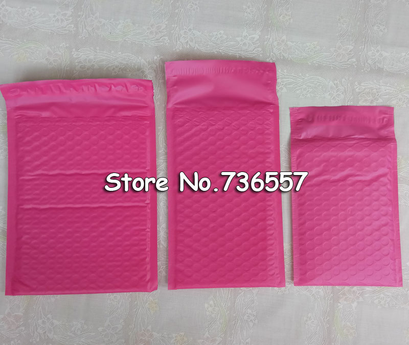Pink 130*230mm 5.1 x9inch  Usable space Poly bubble Mailer envelopes padded Mailing Bag Self Sealing [50pcs] e mailing cd