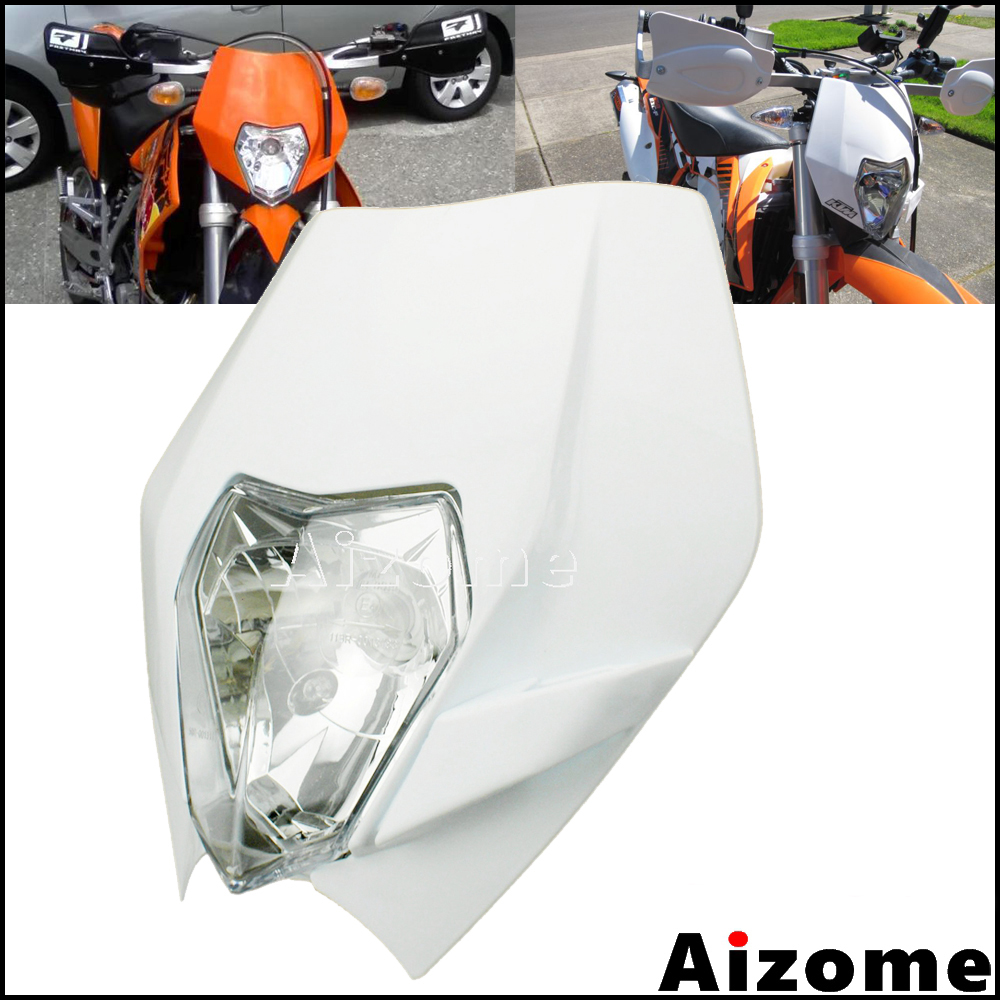 <font><b>Universal</b></font> <font><b>Dirt</b></font> <font><b>Bike</b></font> Motocross 12V E4 Emark <font><b>Headlight</b></font> Fairing 35W Headlamp For Yamaha Kawasaki KTM MX EXC SX WR DRZ KLX KX YZ F image