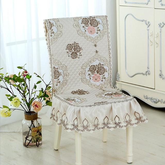 Dining Chair Covers Aliexpress Bamboo Folding Com Buy Sunnyrain 4 6 Pieces Luxury Jacquard Cover Set Housse De Chaise Fundas Para Sillas