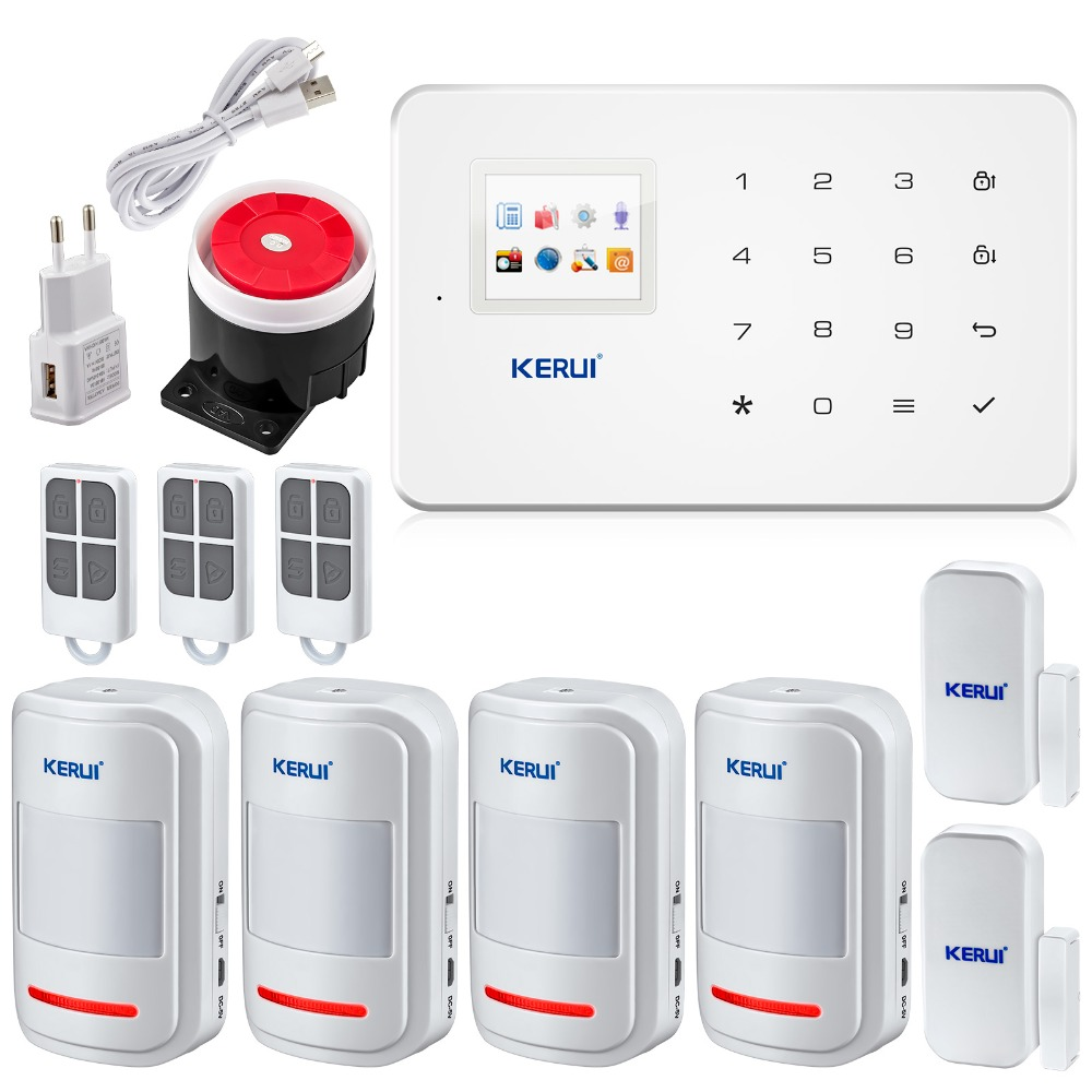 Newest GSM Alarm System Smart Home Burglar Security Detector Sensor For Garage Storge Store House Garden