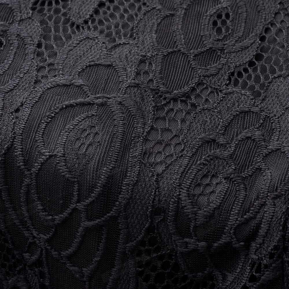 Nice-forever Винтаж с вышитыми цветами; элегантное кружевное платье, vestidos, одежда, отложной воротник, трапециевидная форма, универсальное Бизнес Для женщин расклешенное платье A068