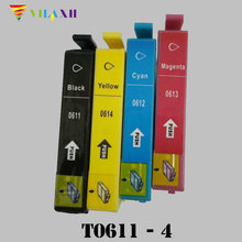 T0611 T0612 T0613 T0614 Ink Cartridge For Epson Stylus D68 D88 DX3800 DX3850 DX4800 DX4850 Printer
