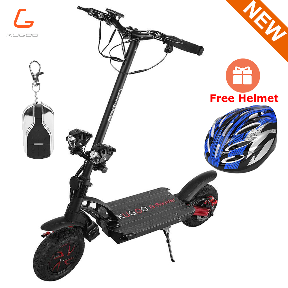 NEW KUGOO G-Booster Sports Electric Scooter 55km/h 800W 2 Drive Motors 85KM Range 10 Inch Solid Honeycomb explosion-proof Tire