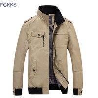 FGKKS Brand Men Casual Jacket Fashion Army Jacket Men Coats New Autumn Slim Fit Male Outerwear Jackets Overcoat