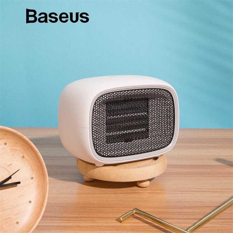 Baseus Mini Fan Portable Electric Air Heater Warm Fan Blower Mini Handy Heater Desktop Radiator Warmer