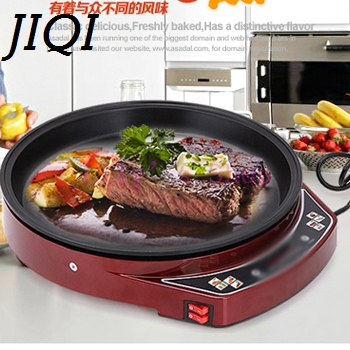 JIQI Electric Crepe Maker electrical grill Griddle baking pan Pizza Machine Pancake Roast beef steak frying Machine 1000w EU US jiqi stainless steel electric crepe maker plate grill crepe grill machine page 4