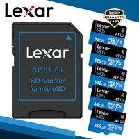 Lexar Оригинал 633x Micro SD карта 512 16 ГБ 32 ГБ 64 Гб 128 ГБ SDHC SDXC высокая скорость до макс. 95 м/с Flash Micro SD для Дрон для GoPro