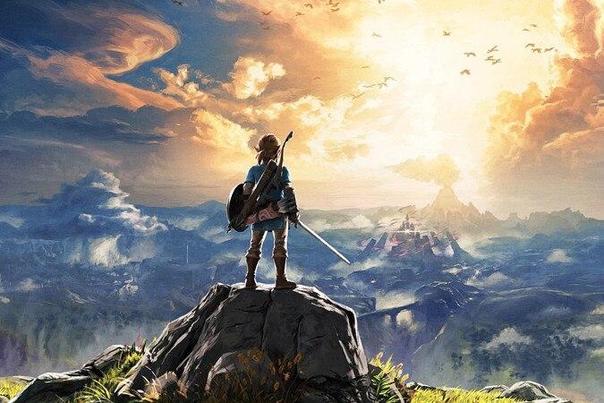 Pittura del Fumetto di diamante The Legend Of Zelda Respiro Del selvaggio Della Parete Della Casa di Arte Della Parete Immagine Art Print Pittura landschap Decor