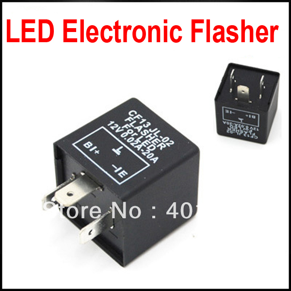 20pcs 3 Pin Electronic Flasher Relay module CF13 Fix LED Turn Signal Light Error Flashing Blinker aliexpress com buy 20pcs 3 pin electronic flasher relay module 537 flasher wiring diagram at eliteediting.co