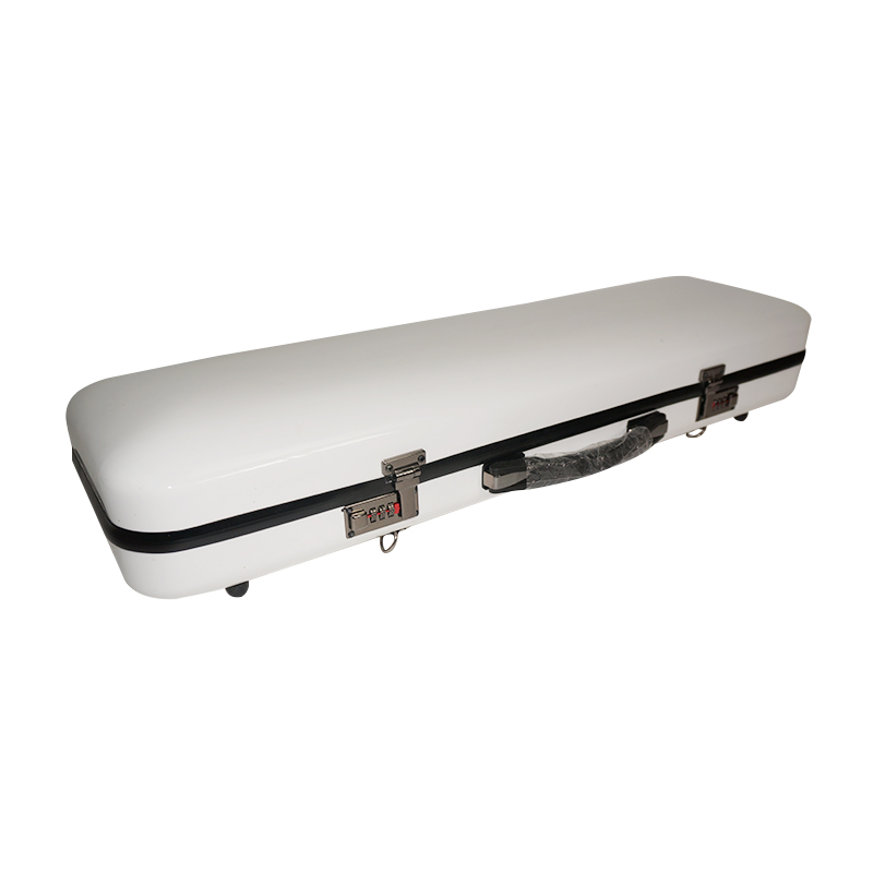 4/4 violin case light white composite carbon fiber square violin case #06 high quality violin 4 4 full size composite carbon fiber case bow holders straps