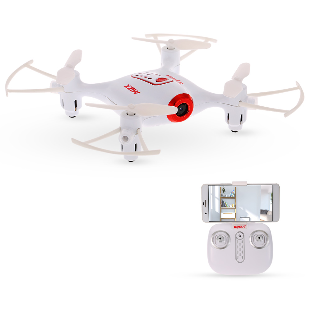 Syma X21W Wifi FPV 720P Camera Drone Barometer Set Height RC Drone Quadcopter Toys APP Phone Control With Battery Controller (12)