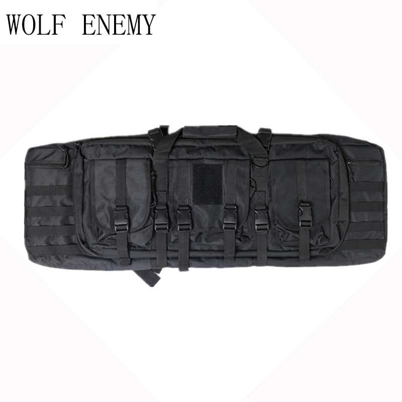 100cm Outdoor Military Hunting Tactical Hunting Gun Riflescope Pack Square Carry Bag Protection Case Backpack 1000D Accessories gun protector case backpack tactical handgun pistol carry bag wargame sports military hunting camping bag pouch backpack