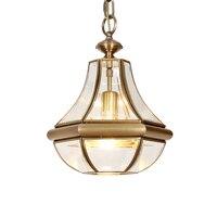 Европейский 40 см люстра лампа медных американский стиль гостиной спальня столовая Творческое начало отеля магазин украшения