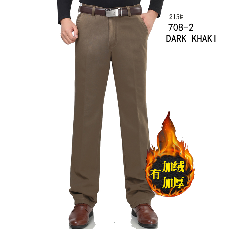 Baru musim dingin Ditambah beludru celana kasual pria celana setelan - Pakaian Pria - Foto 2