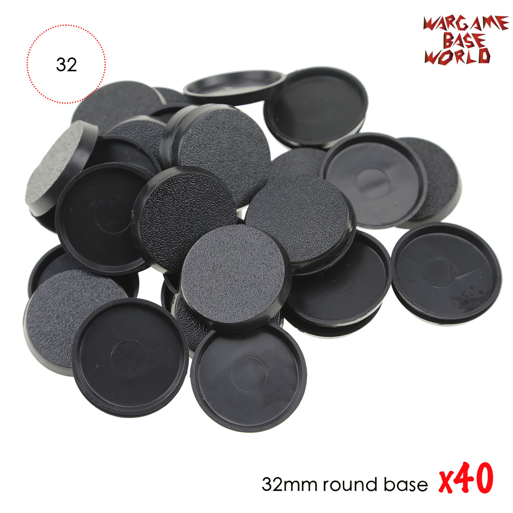 40PCS 32mm Plastic Round Bases For Miniatures