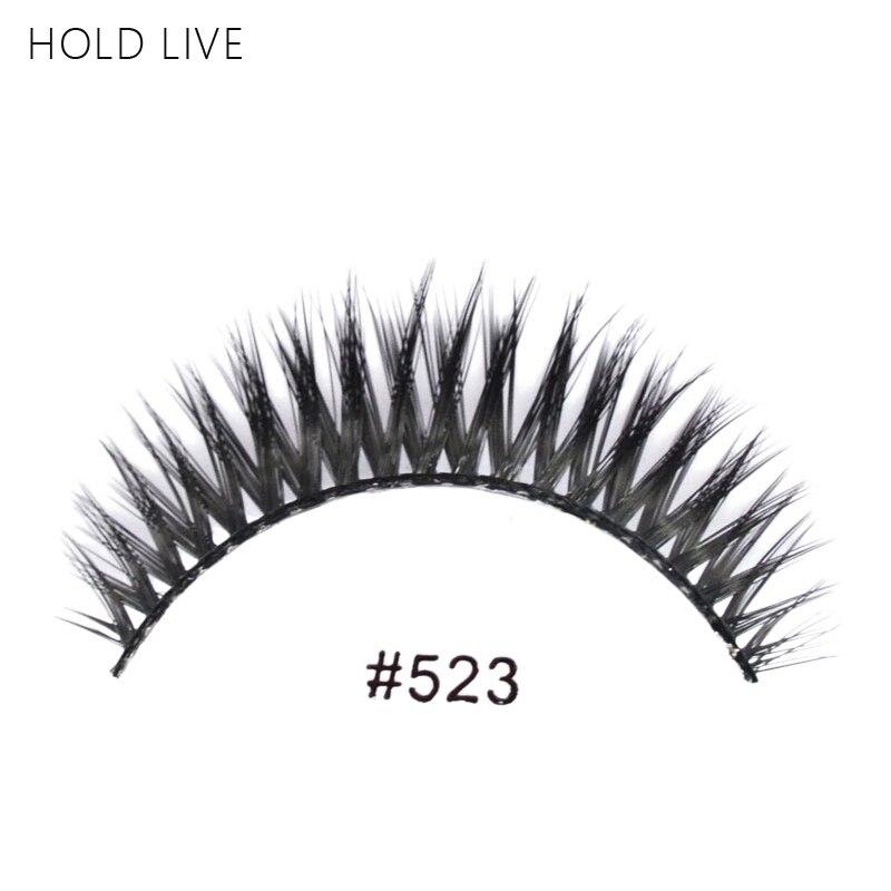HOLD LIVE New 1Pair False Eyelashes Natural Black Long Crisscross Hand Made Makeup Eyelash Extension 22Style Fake Eye Lashes 523