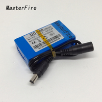 MasterFire 10set/lot Mini Portable DC-168 12V 1800mAh High Capacity Rechargeable Li-ion Battery for CCTV Camera led light