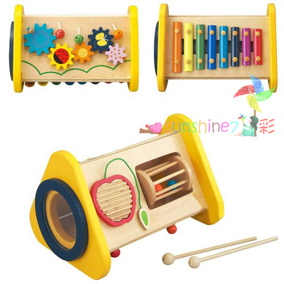 ФОТО Multifunctional 3 in 1   combination percussion combination of children knocking piano octave wooden toy
