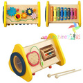 Multifunctional 3 in 1   combination percussion combination of children knocking piano octave wooden toy