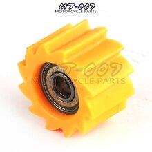 Желтый M8 или M10 цепи роллер Минимальная натяжителя приводной ремённой шкив руководство для большинства для Dirt pit велосипед мотоцикл для мотокросса