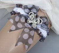New Design de moda Elastic fita Garter casamento para noiva feito à mão com cristais pedras borboleta projeto