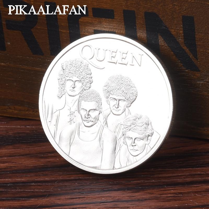 PIKAALAFAN américain et européen Star Queen Band argent plaqué pièces commémoratives groupe de Rock Fans de musique recueillir des pièces étrangères