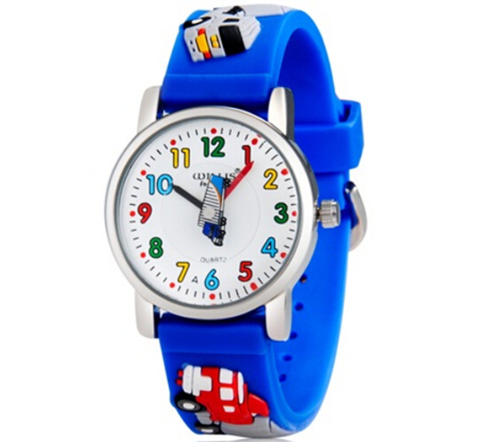 Little Boys Girls Children Wrist Kids Watches,Cartoon 3D Truck Design Analog Band north little boys girls children wrist kids watches cartoon 3d dolphin design analog band 30m waterproof blue